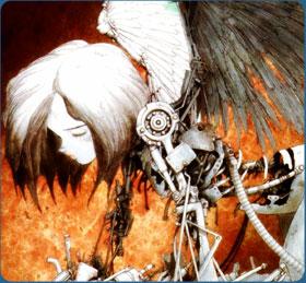 Frame from the Battle Angel Alita manga