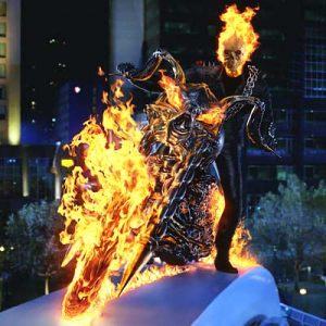 Still from the first Ghost Rider film