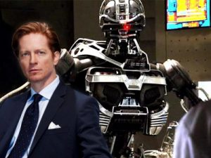 Star Eric Stolz  with proto-Cylon