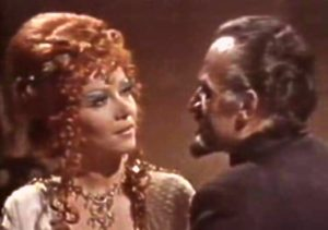As Queen Galleria in DOCTOR WHO (with Roger Delgado)