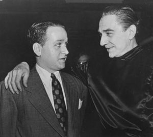 Richard Gordon & Bela Lugosi - Set of VAMPIRE OVER LONDON