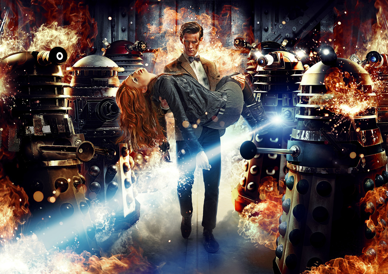Art from ASYLUM OF THE DALEKS, season 7 premiere.