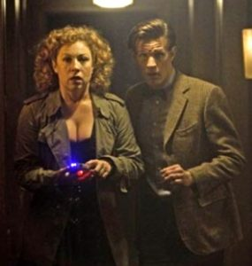 River Song (Alex Kingston) and the Doctor. Perhaps not the easiest immortal to be married to...